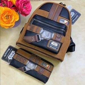 NWT Loungefly Star Wars Han Solo Backpack & Wallet